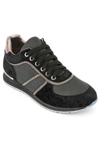 Womens Synthetic Lace Up Sneakers