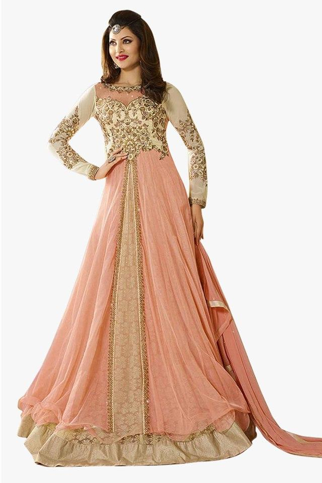 Womens Zari Work Anarkali Suit