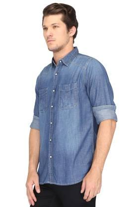 Mens 2 Pocket Slub Shirt