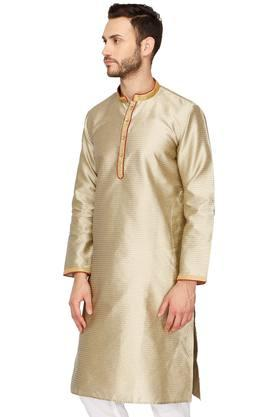 Mens Mandarin Neck Printed Kurta