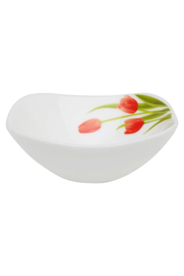 Blossoms Printed Square Vegetable Bowl