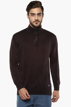 INDIAN TERRAINMens High Neck Solid Sweater