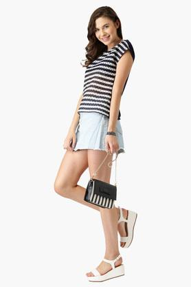 Womens Striped Knitted Top