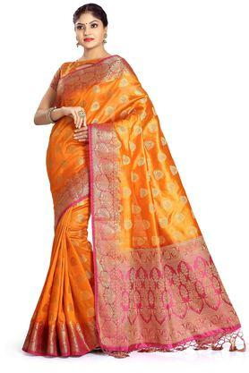 DEMARCA Womens Art Silk Tussar Designer Saree - 204100145_9508