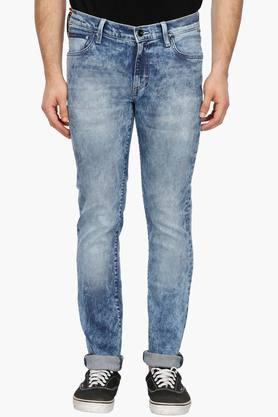 LEE Mens Skinny Fit Stone Wash Jeans (Lowbruce Fit)