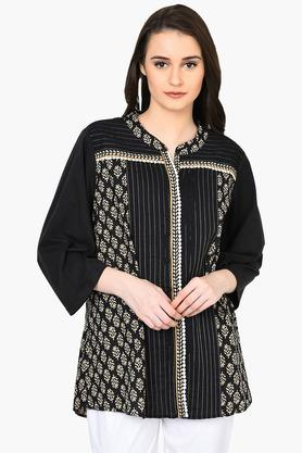 RANGRITI Women Straight Cotton Indie Top