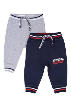 Boys 3 Pocket Solid Joggers Pack of 2