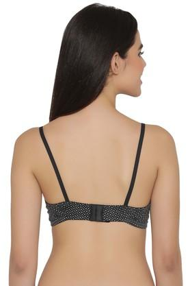 Womens Dot Pattern Non Padded Non Wired Full Coverage Bra