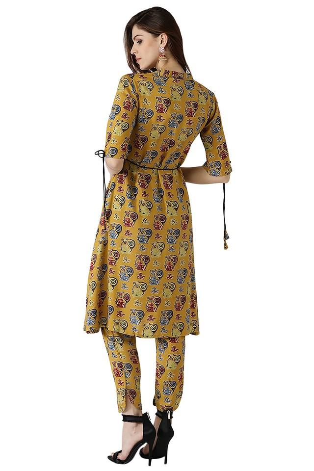 Womens Rayon Printed Kurti With Trouser