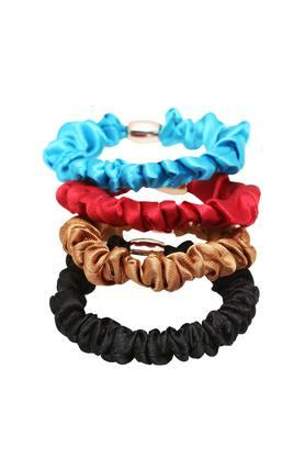 Girls Solid Rubber Band Pack of 4