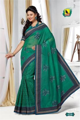 ASHIKA Womens Embroidered Saree With Blouse Piece - 204577042_8445