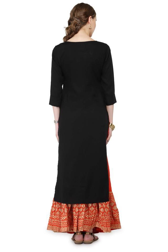 Women Solid Kurta and Skirt Set