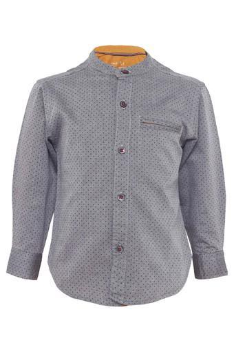 Boys Dot Pattern Casual Shirt