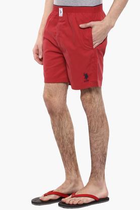 Mens 2 Pocket Solid Boxers
