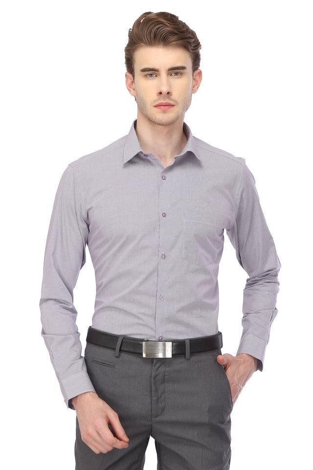 STOP - Purple Formal Shirts - Main