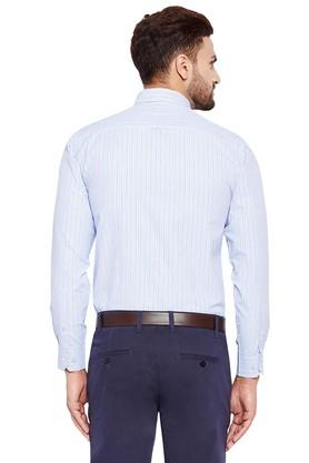 Mens Regular Fit Striped Formal Shirt