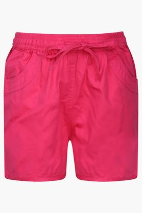 Girls 3 Pocket Solid Shorts
