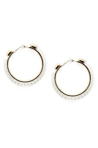 Womens White Metal Earrings