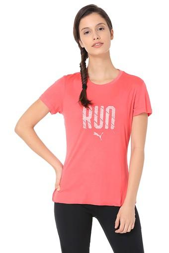 Womens Round Neck Printed T-Shirt