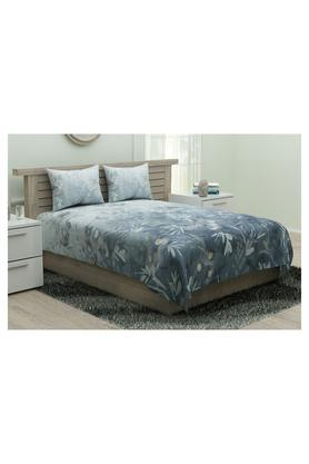 SPACES Utopia Printed King Bed Sheet With Pillow Cover - 204824915_9900