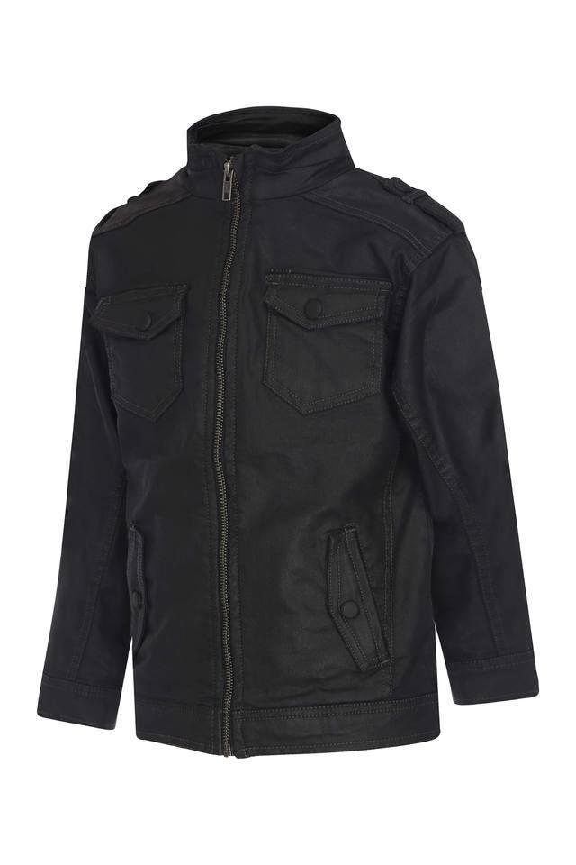 Boys Zip Through Solid Jackets