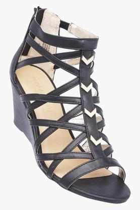 STEVE MADDEN Womens Party Wear Zipper Closure Wedges - 203024865