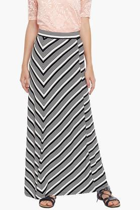 LATIN QUARTERS Womens Stripe Long Skirt
