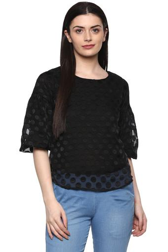 FRATINI WOMAN -  Black Tops & Tees - Main