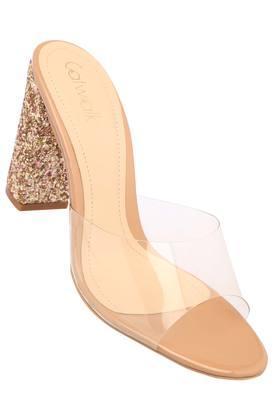 Womens Casual Wear Slip On Heeled Sandals
