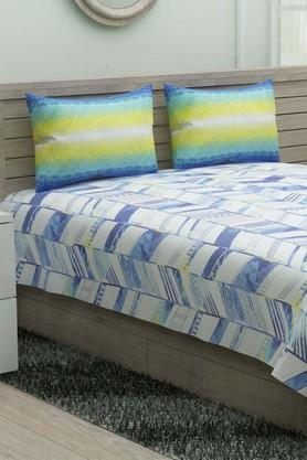 IVYPrinted Double Bedsheet With 2 Pillow Covers - 203980889_9331