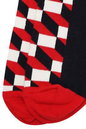 Mens Ankle Length Filled Optic Socks