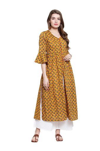 VARANGA -  MustardSalwar & Churidar Suits - Main