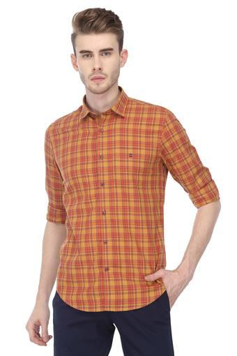 LOUIS PHILIPPE SPORTS -  Orange Casual Shirts - Main