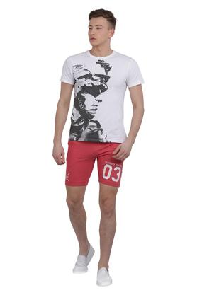 Mens 3 Pocket Graphic Print Shorts