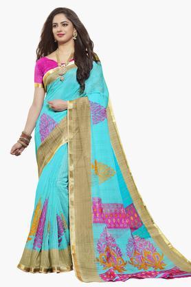 ISHINWomens Art Silk Printed Saree - 203495546_9308