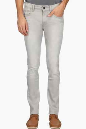 FLYING MACHINEMens Slim Fit Heavy Wash Jeans (Micheal Fit)