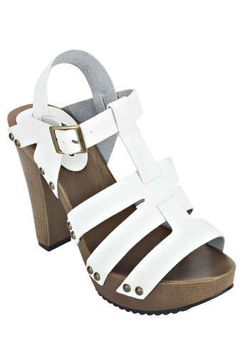 Casual Sandals Yvybfig76 On Heeled Womens Slip Wear TJclF3uK1