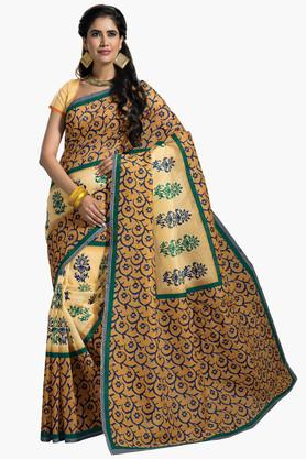 DEMARCA Womens Cotton Blend Printed Saree - 203229470
