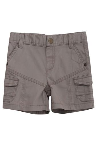 Kids Solid Woven Shorts