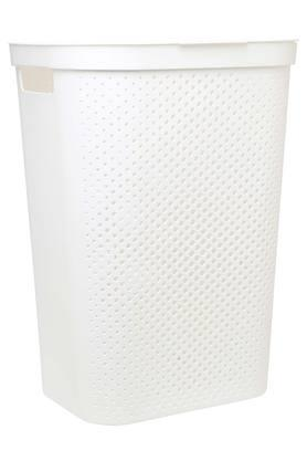 Rectangular Solid Laundry Basket with Lid