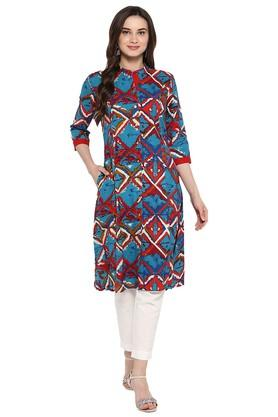 JUNIPER Womens Printed A-Line Kurta With Pant