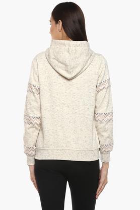 Womens Hooded Printed Sweatshirt