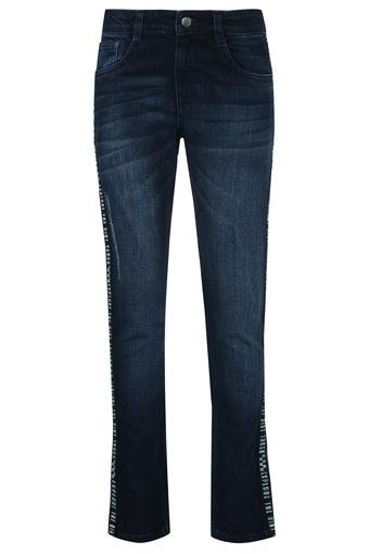 Boys Skinny Fit Whiskered Effect Jeans