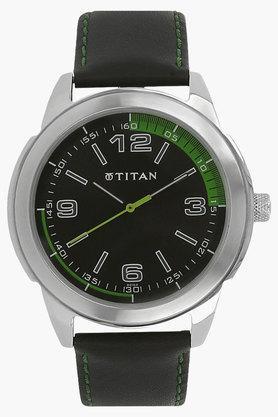 TITANMens Octane Black Dial Analog Watch - NF1585SL04C