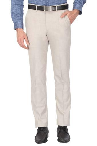 Mens 4 Pocket Slub Formal Trousers