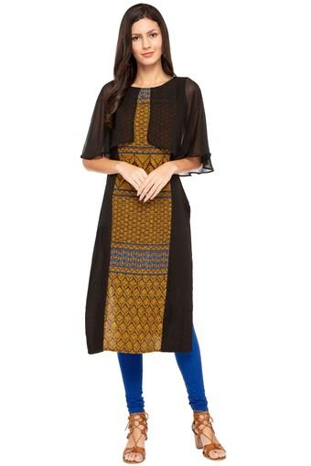 IMARA -  Black Kurtas - Main
