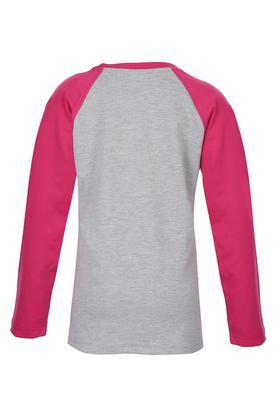 Girls Round Neck Printed Sweatshirt