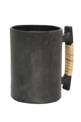 Round Stone Finish Ancient Art Beer Mug