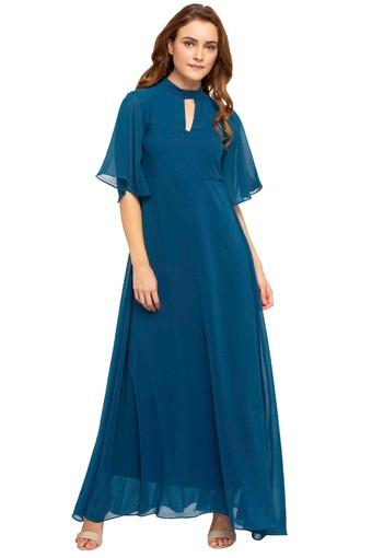 ed269ae860 Buy AND Womens Band Neck Solid Maxi Dress | Shoppers Stop