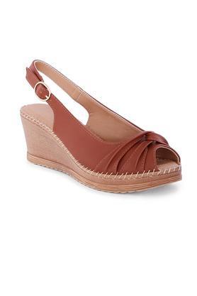 CERIZWomens Casual Wear Buckle Closure Peep Toes - 204895219_9126